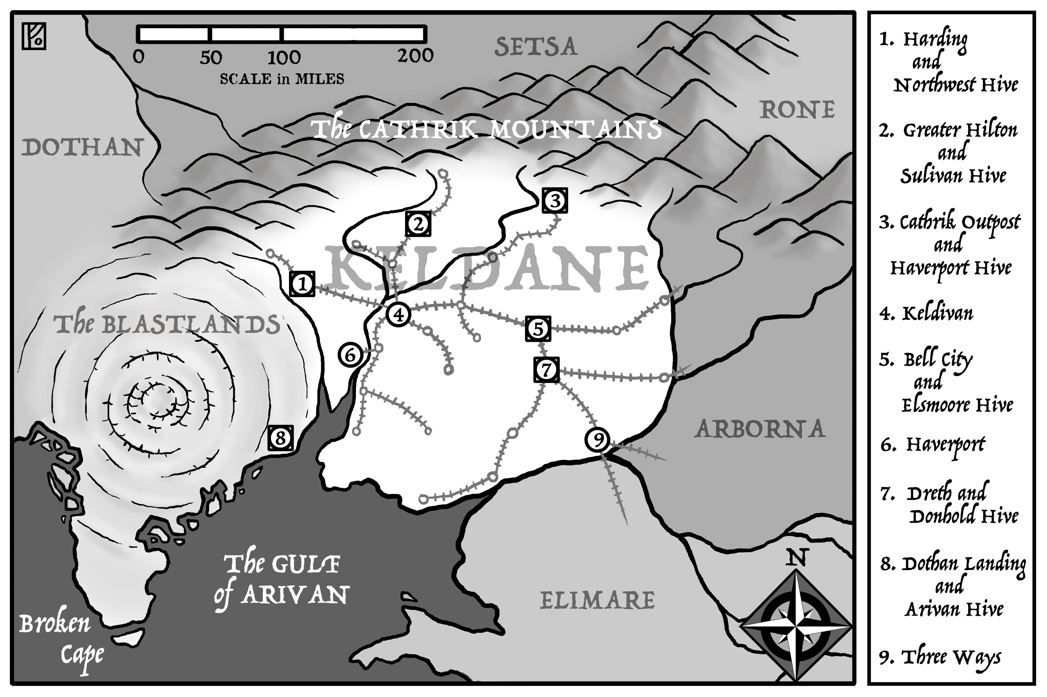 Keldane Map