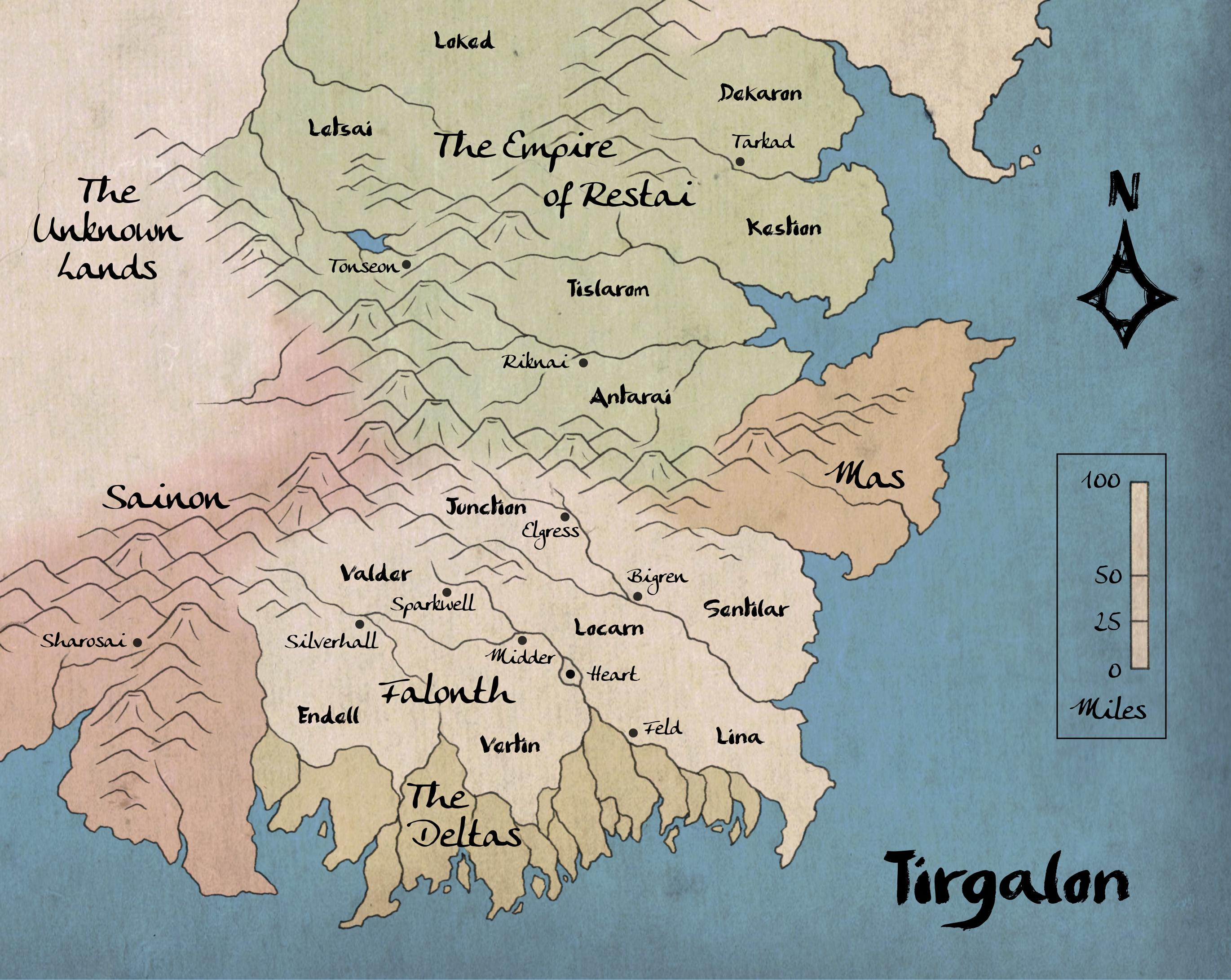 Tirgalon Map